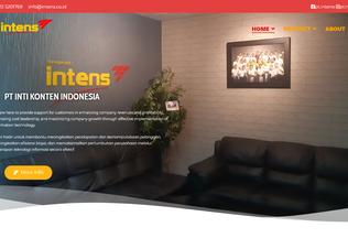 Website intens.co.id desktop preview
