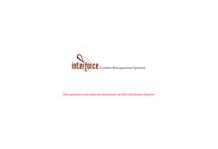 Website interforcecms.nl desktop preview