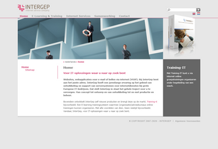 Website intergep.nl desktop preview