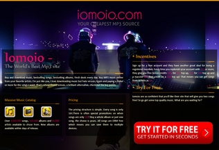 Website iomoio.co.uk desktop preview