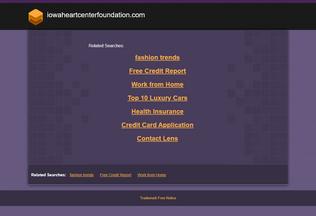 Website iowaheartcenterfoundation.com desktop preview
