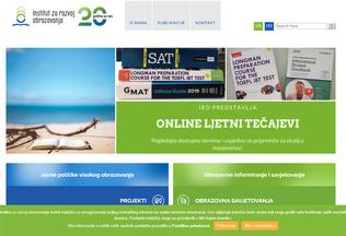 Website iro.hr desktop preview