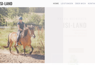 Website isi-land.de desktop preview