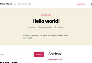 Website islamopedia.se desktop preview
