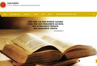 Website issrmsansabino.it desktop preview