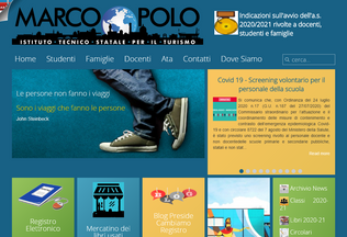 Website ittmarcopolo.edu.it desktop preview