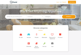 Website izifound.in desktop preview