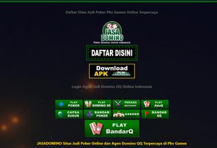 Website jasadomino.net desktop preview