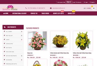 Website jasmineflowers.in desktop preview
