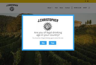 Website jchristopherwines.com desktop preview