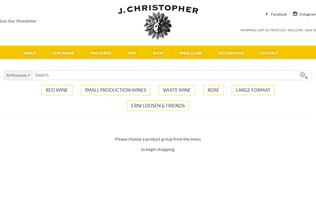 Website jchristopherwines.orderport.net desktop preview