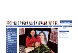 Website jenteporten.no desktop preview