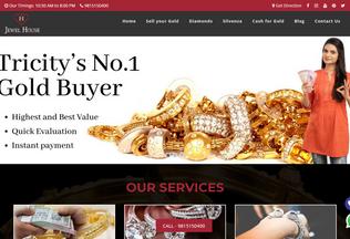 Website jewelhousechandigarh.in desktop preview