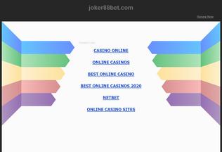 Website joker88bet.com desktop preview