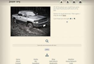 Website jpope.org desktop preview