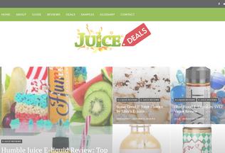 Website juicedeals.net desktop preview
