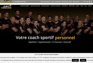 Website justcoaching.fr desktop preview