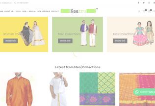 Website kaatru.in desktop preview