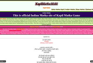 Website kapilmatka.mobi desktop preview