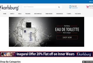 Website karlsburg.in desktop preview