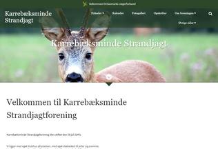 Website karrebaeksmindestrandjagt.dk desktop preview