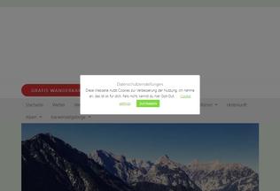 Website karwendel-urlaub.de desktop preview