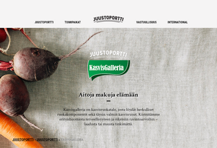 Website kasvisgalleria.fi desktop preview