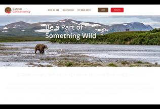 Website katmaiconservancy.org desktop preview