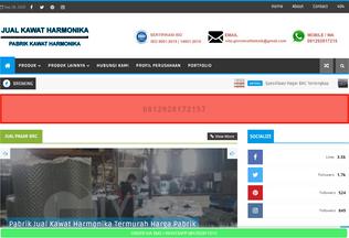 Website kawatharmonikamurah.com desktop preview