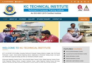Website kcti.in desktop preview