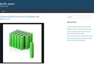 Website keithpenn.info desktop preview