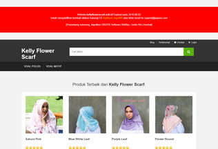 Website kellyflowerscarf.soft.id desktop preview