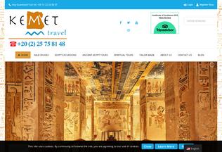 Website kemet.travel desktop preview