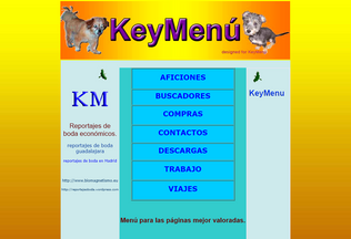 Website keymenu.es desktop preview