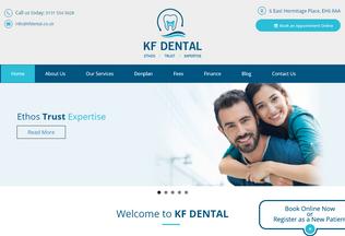 Website kfdental.co.uk desktop preview