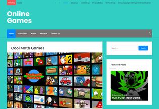 Website kids4coolmathgames.com desktop preview