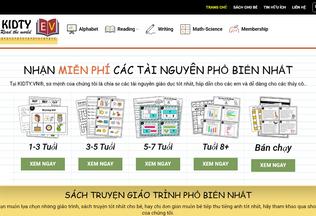 Website kidty.vn desktop preview
