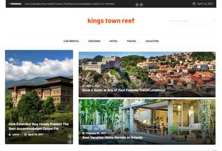 Website kingstownreef.com desktop preview