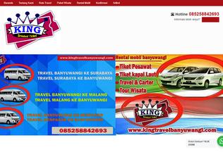 Website kingtravelbanyuwangi.com desktop preview