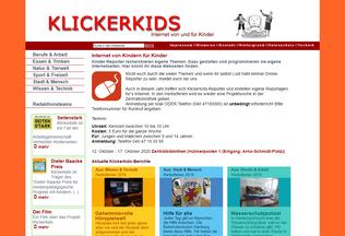 Website klickerkids.de desktop preview