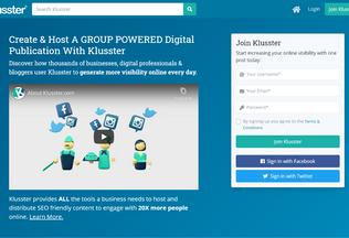 Website klusster.com desktop preview