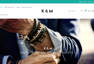 Website km-boutique.com desktop preview