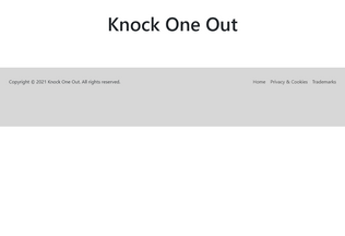 Website knock1out.tv desktop preview