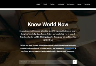 Website knowworldnow.com desktop preview