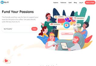 Website ko-fi.com desktop preview