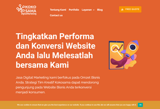 Website kokosama.com desktop preview