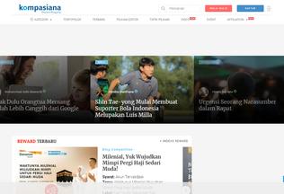 Website kompasiana.com desktop preview