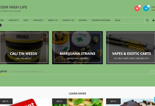 Website kushhighlife.com desktop preview