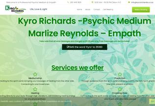 Website kyrorichards.co.za desktop preview