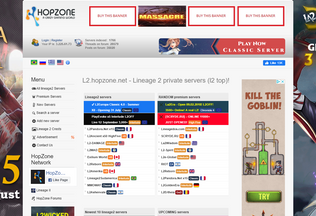 Website l2.hopzone.net desktop preview